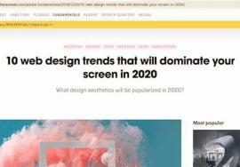 article web design trends